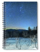 Stars Over The New Hampshire White Mountains Spiral Notebook