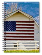 Stars Stripes And Barns Spiral Notebook