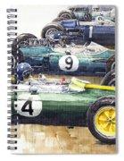 1963 Start British Gp  - Lotus  Brabham  Brm  Brabham Spiral Notebook