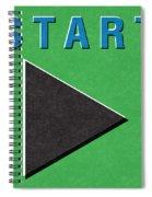 Start Button Spiral Notebook