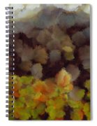 Starting A Fire In The Forest Spiral Notebook