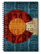 State Flag Of Colorado Recycled License Plate Art Spiral Notebook