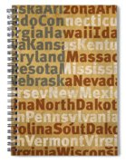 State Names American Flag Word Art Red White And Blue Spiral Notebook