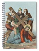 Station Ix Jesus Falls Under The Cross The Third Time Spiral Notebook