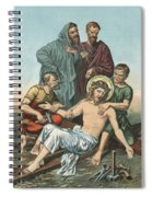 Station Xi Jesus Is Nailed To The Cross Spiral Notebook