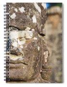Statue At Angkor Thom Spiral Notebook