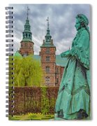 Statue At Rosenborg Castle Spiral Notebook