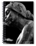 Statue In Black And White Spiral Notebook