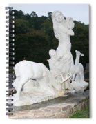 Statue In Front Of Arlington Hotel, Hot Springs, Ar Spiral Notebook