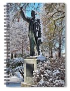 Statue In The Snow Spiral Notebook
