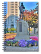 Statue In The Square Spiral Notebook