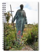 Statue Of Father Serra At Carmel Mission Spiral Notebook