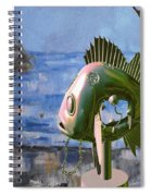 Statue Of Fish 113 Spiral Notebook