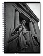 Statue Of Justice At The Courthouse In Memphis Tennessee Spiral Notebook