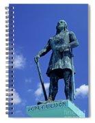 Statue Of Leif Ericksson  Spiral Notebook