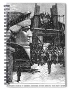 Statue Of Liberty, 1881 Spiral Notebook