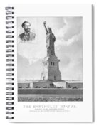 Statue Of Liberty And Bartholdi Portrait Spiral Notebook