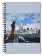 Statue Of Liberty And Tween Towers Spiral Notebook