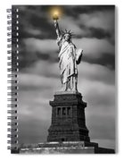 Statue Of Liberty At Dusk Spiral Notebook