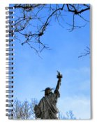 Statue Of Liberty Back View  Spiral Notebook
