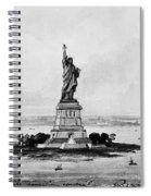 Statue Of Liberty, C1886 Spiral Notebook