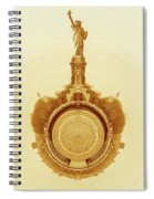 Statue Of Liberty Old Yellow World Spiral Notebook