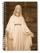 Statue Of Mary At Sacred Heart In Tampa Spiral Notebook