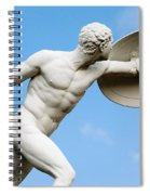Statue Of Nude Man With Shield And Dagger Spiral Notebook