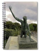 Statue Of Woman Crawling On Marble Street Spiral Notebook