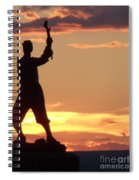 Statue On Cemerty Ridge Spiral Notebook