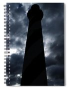 St.augustine Light House Night Spiral Notebook