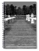 Stay Between The Lines Bw Spiral Notebook