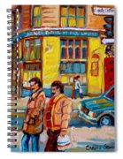 Ste. Catherine Street Montreal Spiral Notebook