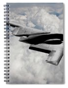 Stealth Bomber Over The Clouds Spiral Notebook