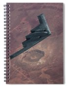 Stealth Over The Arizona Meteor Crater Spiral Notebook