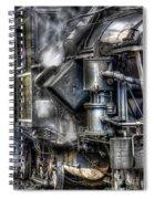Steam Engine Detail Spiral Notebook