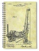 Steam Powered Oil Well Patent Spiral Notebook