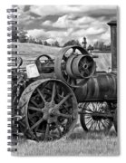 Steam Powered Tractor - Paint Bw Spiral Notebook
