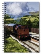 Steam Train 2 Oil Painting Effect Spiral Notebook
