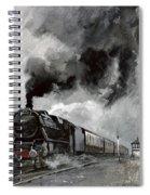 Steam Train At Garsdale - Cumbria Spiral Notebook