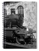 Steam Train In Station Spiral Notebook
