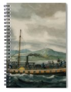 Steamboat Travel On The Hudson River Spiral Notebook