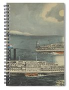 Steamboats Passing At Midnight On Long Island Sound Spiral Notebook