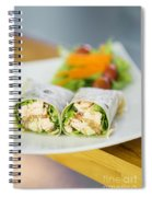 Steamed Salmon And Salad Wrap Spiral Notebook