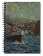 Steamer Leaving Avalon. Catalina Island Spiral Notebook