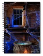 Steaming Cauldron In A Witch Cabin Spiral Notebook