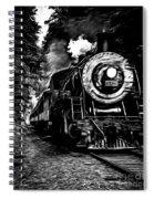 Steaming Through The Pass Spiral Notebook