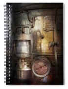 Steampunk - Silent Into The Night Spiral Notebook