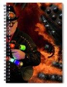 Steampunk Bob 12 Spiral Notebook