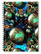 Steampunk Fractal 71216.4 Spiral Notebook
